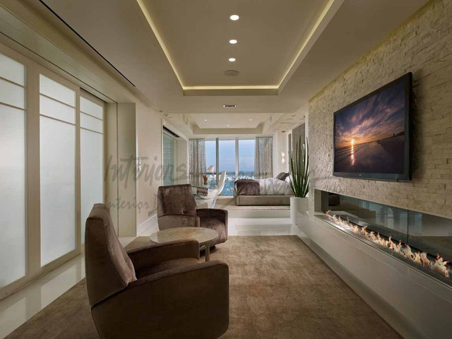 4 story penthouse miami contemporary bedroom miami for Steven g interior designs