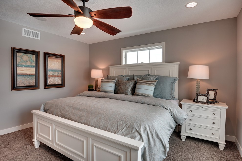 Example of an arts and crafts bedroom design in Minneapolis