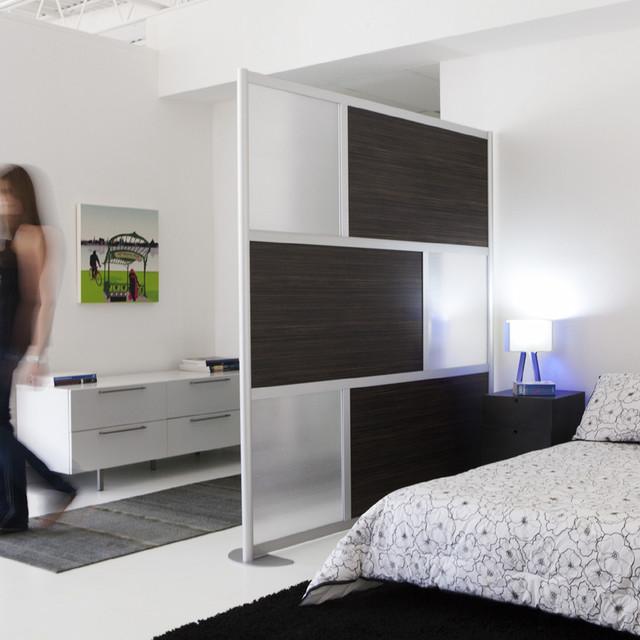 6 39 Modern Privacy Screen Ebony Wood Modern Bedroom Dallas By LOF