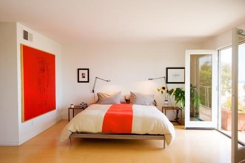 modern bedroom by emily jagoda