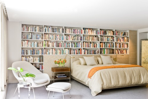 Bed Headboard with a Library