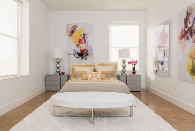 A contemporary retreat contemporary bedroom houston - Contemporary bedroom furniture houston ...