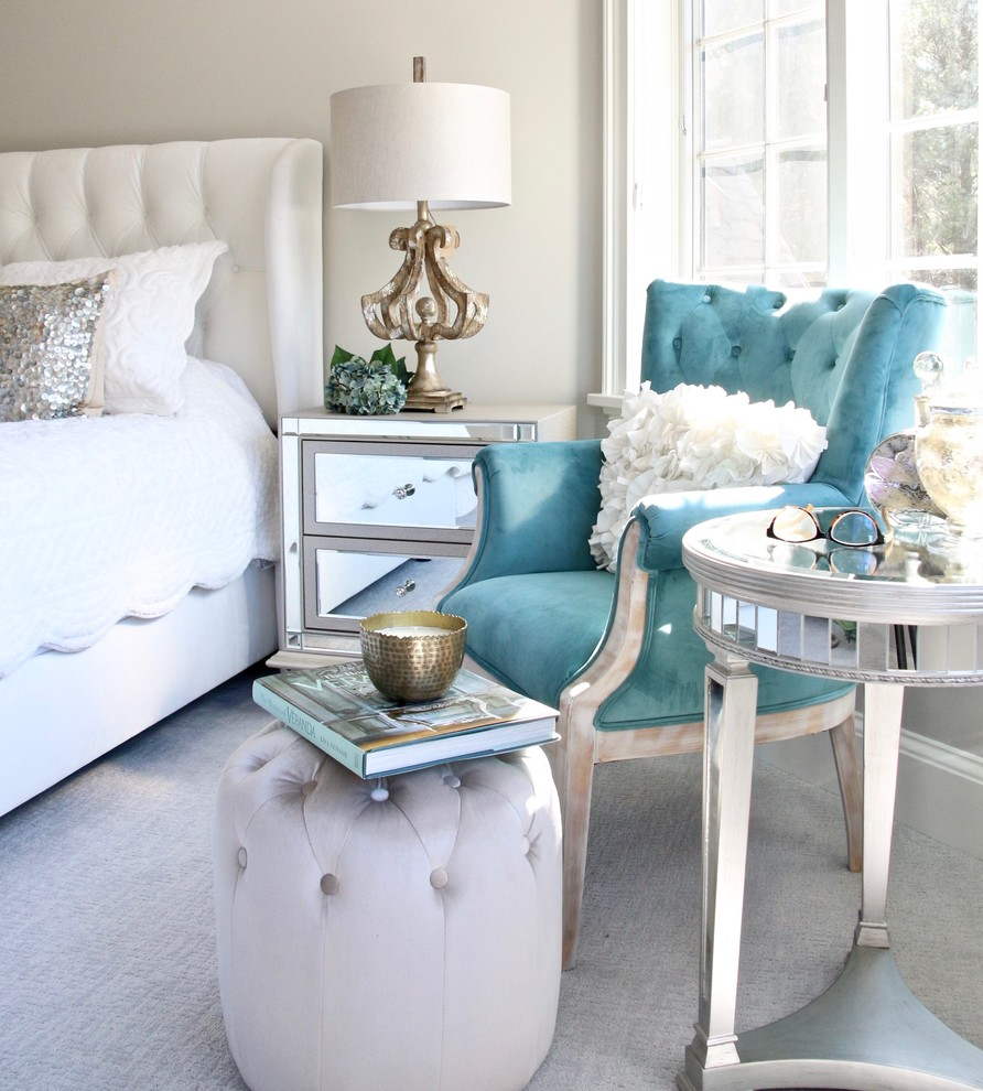 a glam bedroom - shabby-chic style - bedroom - new york