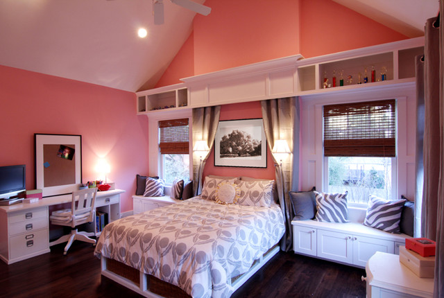 A High School Girlu0027s Dream Bedroom Traditional Bedroom