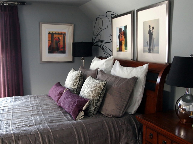 A Mans Master Bedroom Contemporary Bedroom Philadelphia By Shoshana Gosselin