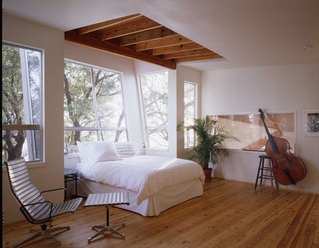 A Master Suite and Artists Studios addition. modern-bedroom