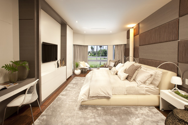 modern bedroom with tv. Modern Bedroom With Tv Suspended Unit | Houzz