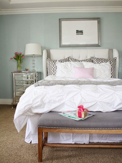 calming colors for a bedroom a relaxing and calming master bedroom transitional 18402