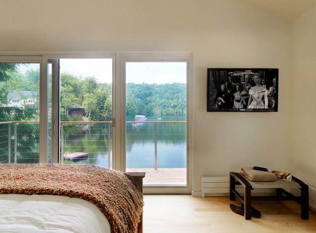 A Small Lake House Contemporary Bedroom Burlington