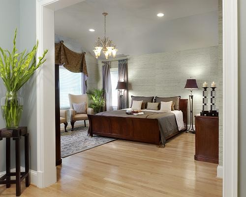 a soothing spa like master bedroom eclectic bedroom