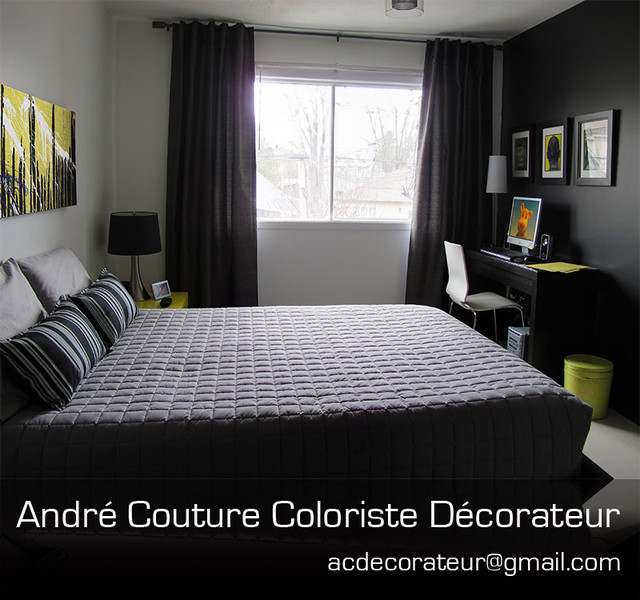 A student bedroom modern bedroom montreal by andre for Student bedroom designs