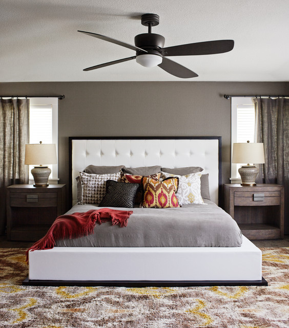 A Suburban Oasis transitional-bedroom