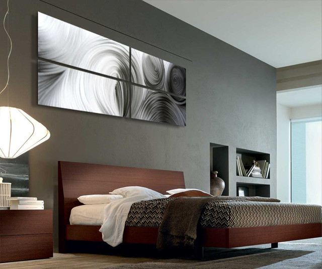 abstract metal art modern bedroom salt lake city by modern