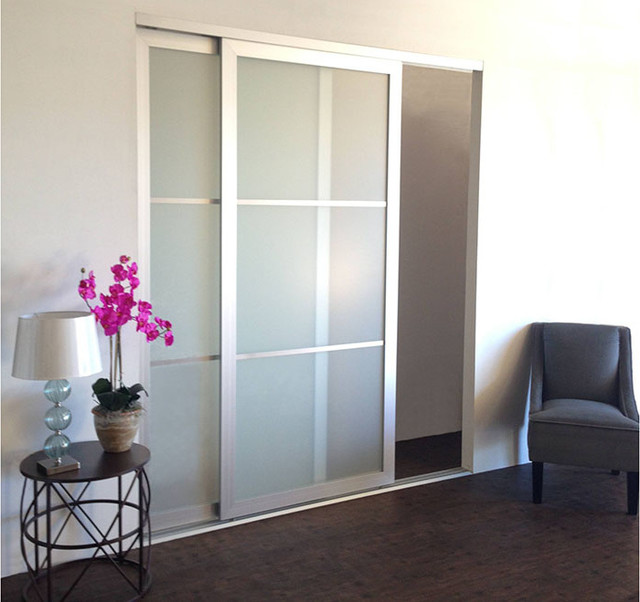Acrylic glass sliding closet doors room dividers for Interior sliding glass doors room dividers