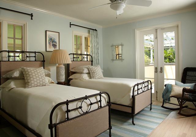 Addison Mizner Beach Home Mediterranean Bedroom