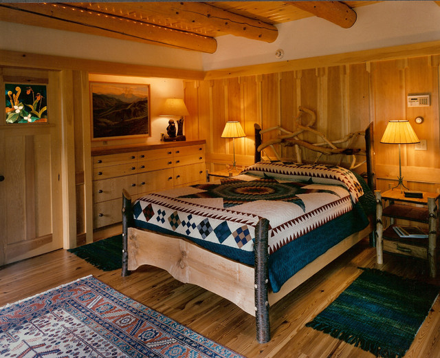Adirondack Style Home Traditional Bedroom