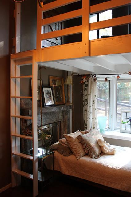 Adirondack style lodge eclectic bedroom los angeles - Adirondack style bedroom furniture ...