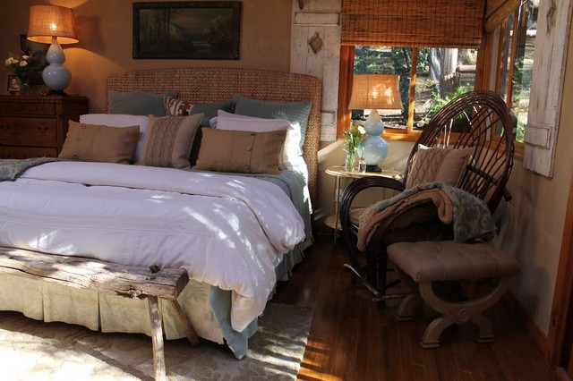 Adirondack Style Lodge Rustic Bedroom Los Angeles
