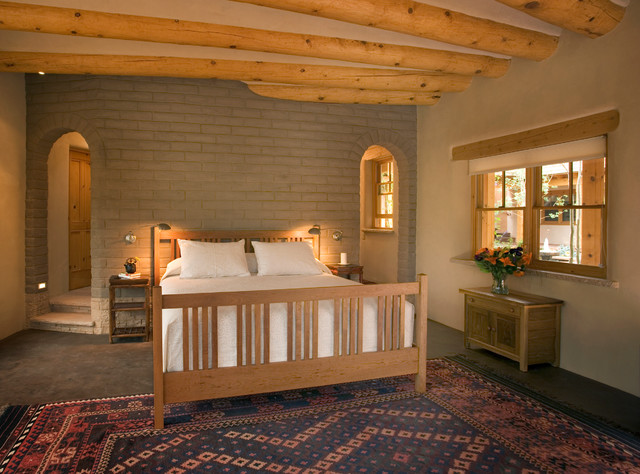 Adobe Home In New Mexico Southwestern Bedroom