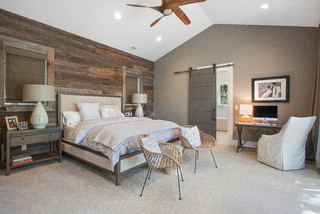 Alamo, CA. Farmhouse. Full Service Design Firm. Master Bedroom. - Farmhouse - Bedroom - San Francisco - by LMK Interiors