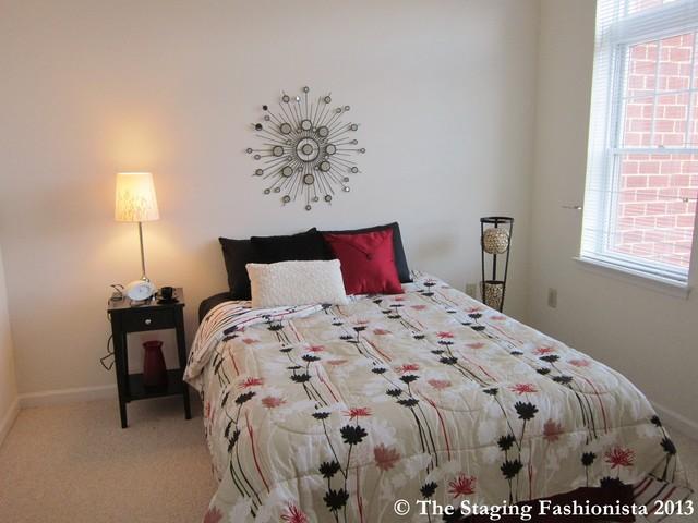 Alexandria va condo vacant home staging contemporary for Fashionista bedroom ideas