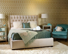 Amelia Bed - How Suite It Is eclectic bedroom
