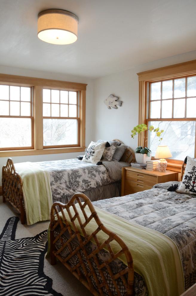 Bedroom - coastal bedroom idea in Boston