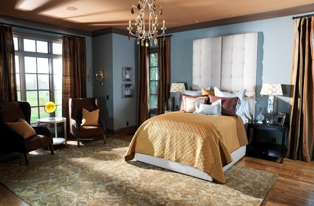 An English Country style home - traditional - bedroom - nashville