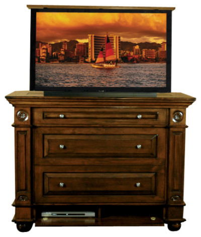 Andaluz Dresser TV Lift Cabinet, 120 US Made TV lift cabinets by Cabinet Tronix - Traditional ...