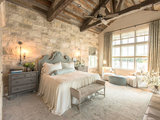 farmhouse-bedroom Stylish Feature Walls Star in the Most Popular Bedrooms Upholstery in London