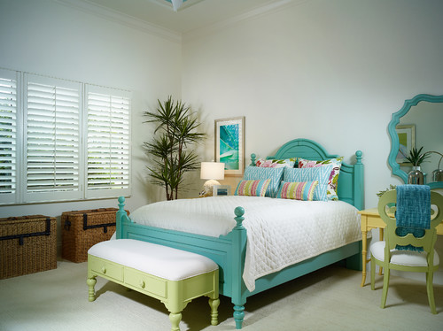 Tropical Bedroom by Naples General Contractors London Bay Homes