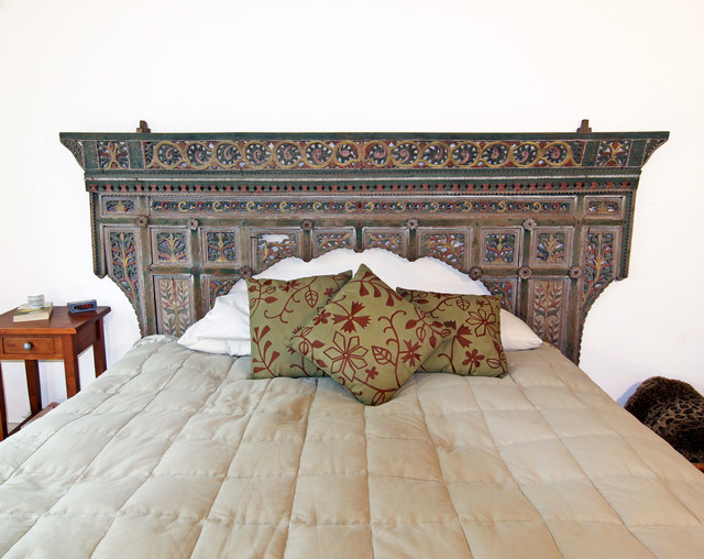 Antique Indonesian Headboard - Eclectic - Bedroom - orange county - by Shelley Gardea