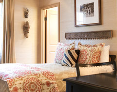 Antique wood details traditional-bedroom