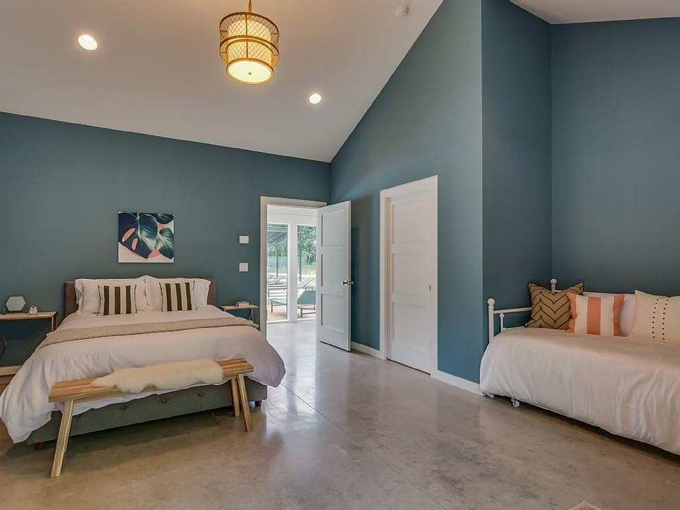 Apple Blossom Resort - Polished Concrete Floors - Contemporary - Bedroom -  Other - By Dancer Concrete Design