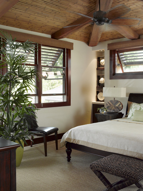 Applegate Tran Interiors tropical bedroom
