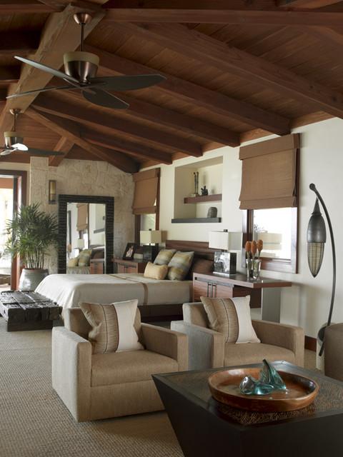 Applegate Tran Interiors tropical-bedroom