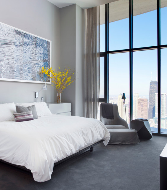 Bedroom Chairs At The Range Curtains On Bedroom Wall Master Bedroom Lighting Ideas Bedroom Design Inspiration: Aqua Penthouse