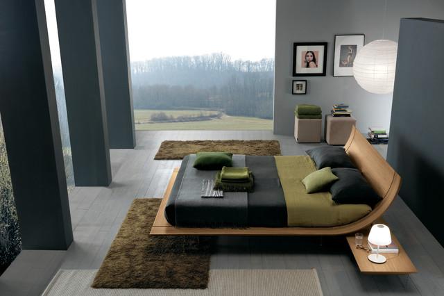 Aqua platform bed by presotto contemporary bedroom