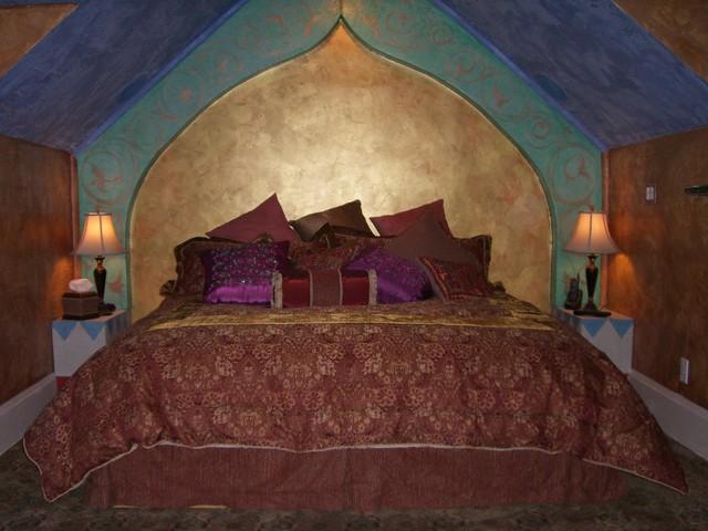 Arabian nights anniversary inn eclectic bedroom for Arabian nights bedroom ideas