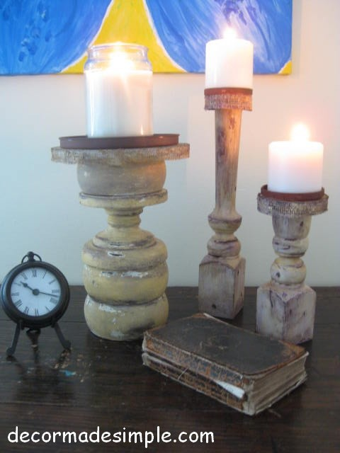 Architectural Candle Holders eclectic bedroom