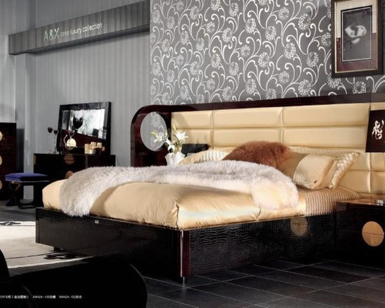 Armani Xavira - Luxury Bed with Crocodile Lacquer Frame - Features