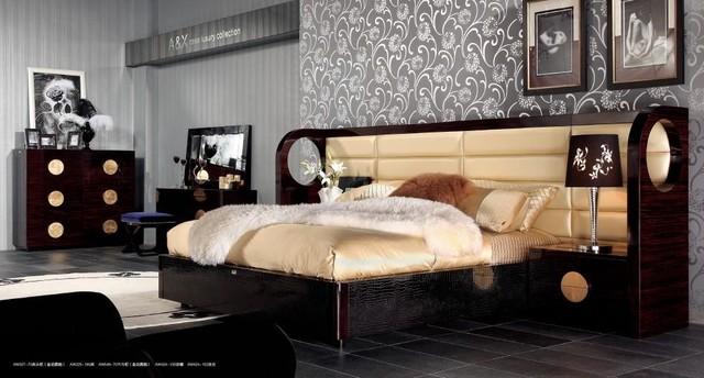 Armani Xavira   Luxury Bed with Crocodile Lacquer Frame contemporary bedroom. Armani Xavira   Luxury Bed with Crocodile Lacquer Frame