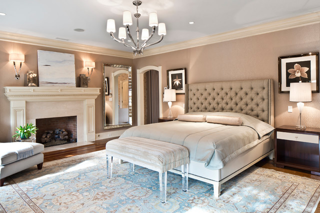 Armonk luxurious master bedroom suite traditional for New master bedroom designs