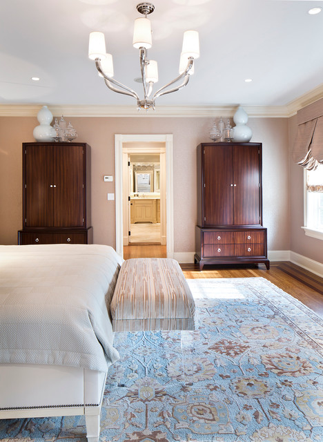 Armonk Luxurious Master Bedroom Suite Traditional