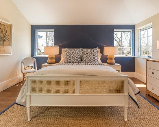 Navy blue accent wall home design photos
