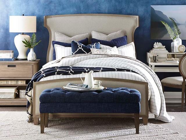 Artisanal Upholstered Bedroom by Bassett Furniture - Contemporary ...