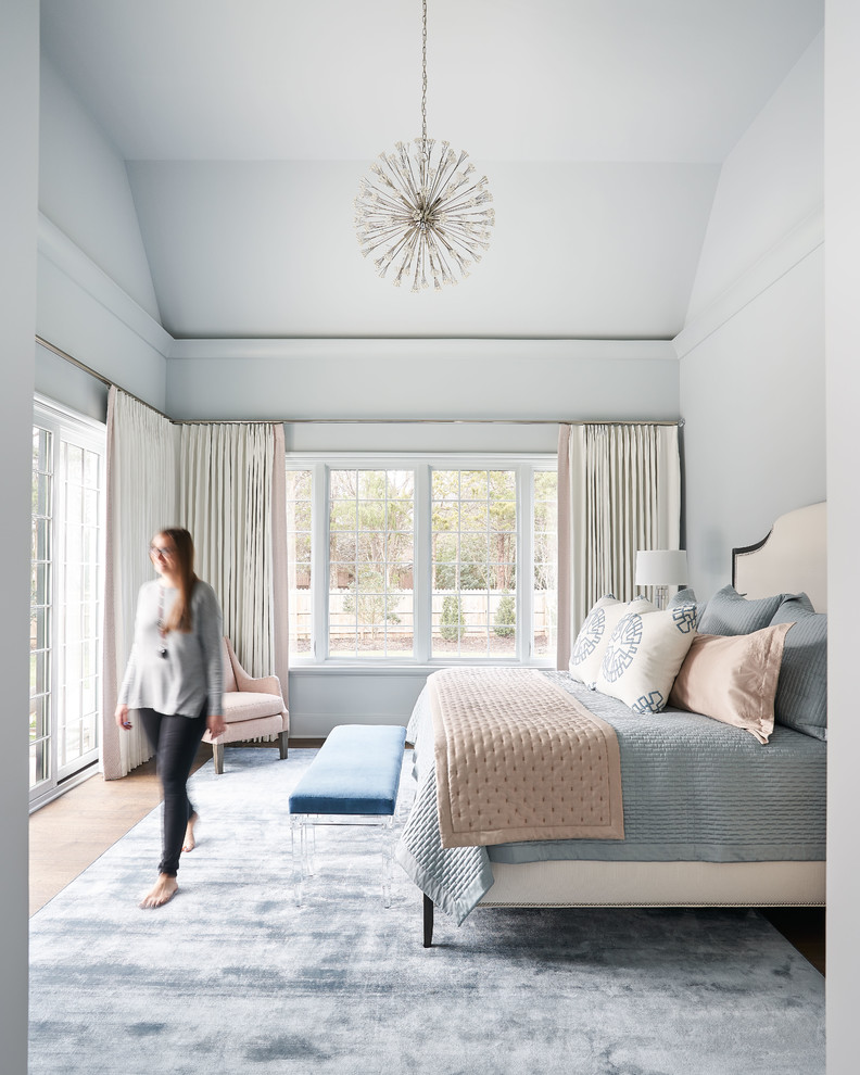 Example of a trendy bedroom design in Charlotte