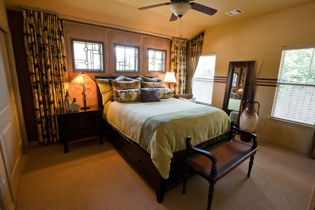 arts and crafts master traditional bedroom