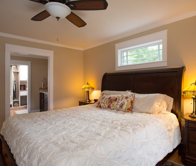 Arts and crafts style master suite craftsman bedroom for Arts and crafts bedroom