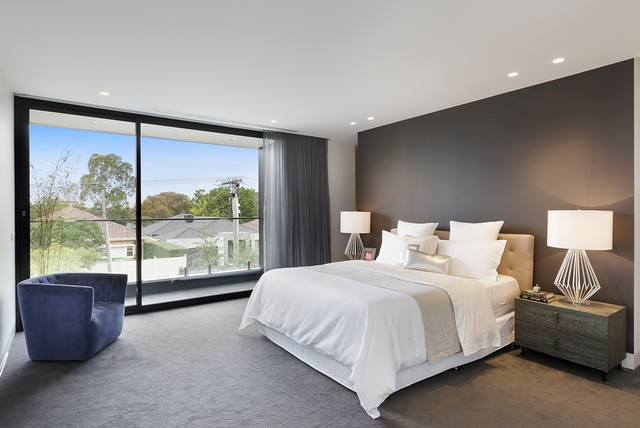 Ashburton House Contemporary Bedroom Melbourne By